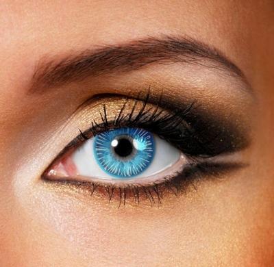Funlenzen Ice Walker Eye, blauw, 3 maanden draagbaar