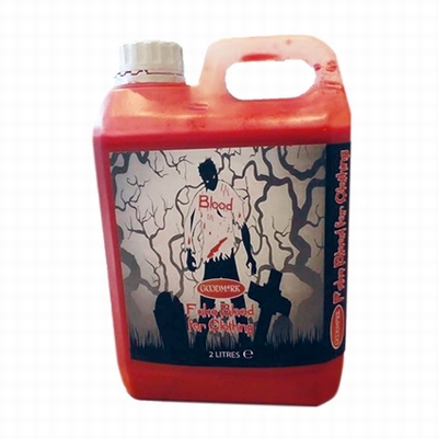 Kunstbloed (nepbloed) voor  over je kleding (2 liter)