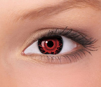 Fashion Lentilles minisclera blood red/black, 17mm, jaarlens