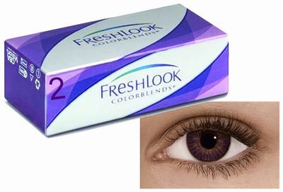Kleurlenzen Freshlook ColorBlends, 2-pack, Amethyst