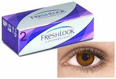Kleurlenzen Freshlook ColorBlends, 2-pack, Bruin