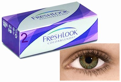 Kleurlenzen Freshlook ColorBlends, 2-pack, Groen