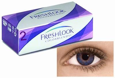 Kleurlenzen Freshlook ColorBlends, 2-pack, True Sapphire
