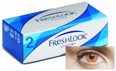 Kleurlenzen Freshlook Colors, 2-pack, Hazel