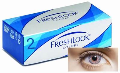 Kleurlenzen Freshlook Colors, 2-pack, Mistig Grijs