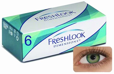 Kleurlenzen Freshlook Dimensions, 6-pack, Sea Green
