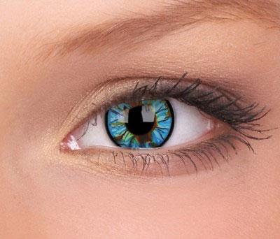 Crazy lenses, funlenzen Blue Streak