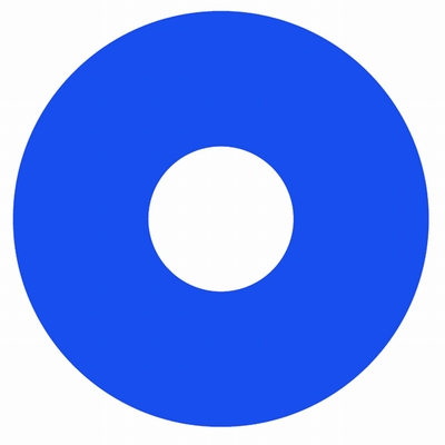 Crazy Lenzen funlenzen  Glow Blue (Blauw)