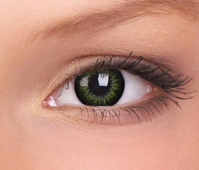 Big Eyes, Party Green manga 3 maands lenzen 15mm