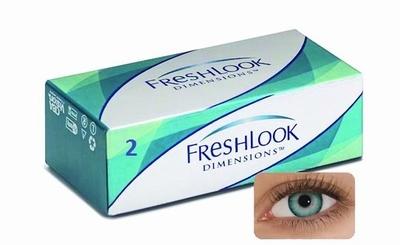 Kleurlenzen Freshlook Dimensions 2-pack Caribbean Aqua Plano