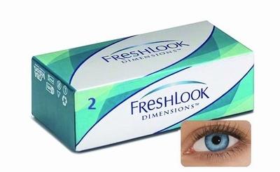 Kleurlenzen Freshlook Dimensions 2-pack Pacific Blue Plano