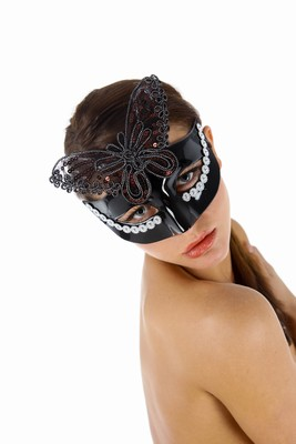 Venetiaans gezichtsmasker Aida, Zwart
