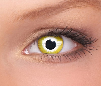 Crazy lenses, funlenzen, Yellow Sunburst