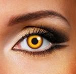 Funlenzen Crazy Clown Eye, rood, 3 maanden draagbaar