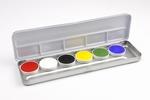 Waterschmink Aqua facepaint palet 6 kleuren