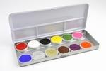 Waterschmink Aqua facepaint palet 12 basis kleuren