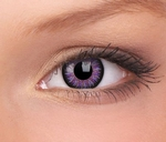 Glamour, Violet contactlenzen mangalenzen, sterkte, 3 maands