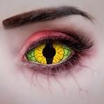 Sclera Dragon Eye Funlenzen 22mm, groen/geel, jaarlenzen