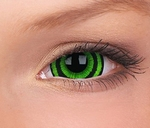 Crazy Lenzen mini sclera 17 mm, Green Goblin, jaarlenzen