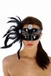 Venetiaans gezichtsmasker Cats, Zwart