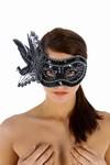 Venetiaans gezichtsmasker la Gioconda, Zwart