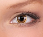 Crazy lenses, funlenzen, Brown/bruin Monster