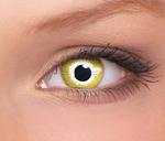 Crazy lenses, funlenzen, Yellow Sunburst